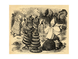 The Chess Players, Illustration from 'Through the Looking Glass' by Lewis Carroll (1832-98) First… Giclee Print by John Tenniel