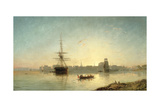 View of the Thames Estuary with Shipping, C.1865 Giclee Print by William Adolphus Knell
