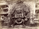 Image of Kala Bhairab in Durbar Square, Kathmandu, Nepal, 1894 Photographic Print by  Johnston and Hoffman
