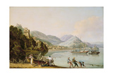 An Italian Harbour with a Genoese Chebec at Anchor Giclee Print by John Thomas Serres
