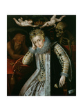 Queen Elizabeth I (1538-1603) in Old Age, C.1610 Giclee Print