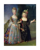 Catherine-Eleonore De Bethisy (1707-67) and Her Brother, Eugene-Eleanore (1709-81) Giclee Print by Alexis Simon Belle