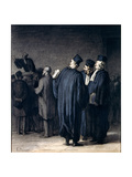 The Lawyers, 1870-75 Reproduction procédé giclée par Honore Daumier