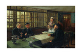 A Nautical Argument, 1877 Giclee Print by Charles Napier Hemy