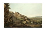 View of the Lion Gate of the Acropolis, 1821 Giclee Print by Edward Dodwell
