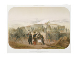 Building a Trench in Front of Sebastopol, 10th October 1854, 1854 Giclee Print by Rene Demoraine