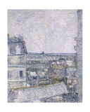View from Vincent's Room in the Rue Lepic, 1887 Giclee Print by Vincent van Gogh