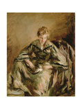 Girl with Cat Giclee Print by Philip Wilson Steer