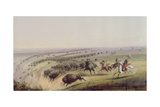 Hunting Buffalo, 1837 Giclee Print by Alfred Jacob Miller