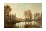 Au Bord De L'Oise (A River Scene) Giclee Print by Stanislas Victor Edouard Lepine