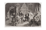 James II (1633-1701) Receiving News of the Landing of the Prince of Orange, Engraved by F.A. Heath Giclee Print by Edgar Melville Ward