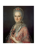 Mrs Jane Huddleston (D.1772) Giclee Print by Jean-Marc Nattier