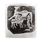 The Rape of Europa, 1898-99 Giclee Print by Paul Gauguin