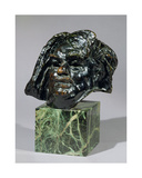 Head of Balzac Giclee Print by Auguste Rodin