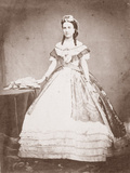 Charlotte of Saxe-Cobourg-Gotha (1840-1927) Princess of Belgium and Empress of Mexico Photographic Print by Francois Aubert