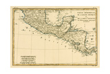 Southern Mexico, from 'Atlas De Toutes Les Parties Connues Du Globe Terrestre' by Guillaume… Giclee Print by Charles Marie Rigobert Bonne