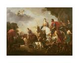Dido and Aeneas Hunting Giclee Print by Jan van Bike Miel