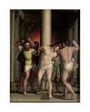 Scourging of Christ at the Pillar Giclée-tryk af Sebastiano del Piombo