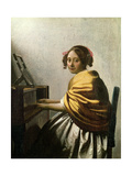 Young Woman at a Virginal Giclee Print by Jan Vermeer