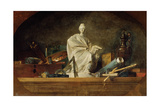 Attributes of the Arts, 1765 Giclee Print by Jean-Baptiste Simeon Chardin