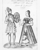Henry Stewart (1545-66) the Duke of Albany and Mary Queen of Scots (1542-87) Photographic Print