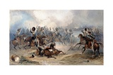 Captain Norman Ramsay, Royal Horse Artillery, Galloping His Troop Through the French Army to… Giclée-tryk af George Bryant Campion