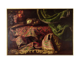 Still Life with a Carpet Giclee Print by Francesco Fieravino