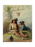 Trappers, 1858 Giclee Print by Alfred Jacob Miller