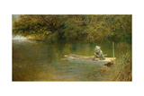 Contentment, a Corner of a Norfolk Broad Giclee Print by George Parsons Norman