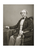 Charles John Kean (1811-68), Engraved by D.J. Pound from a Photograph, from 'The Drawing-Room of… Giclee Print by John Jabez Edwin Paisley Mayall