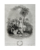 Britannia Giving Freedom to Poor African Slaves, Engraved by J. Bridgens, 1838 Giclee Print by W. Green