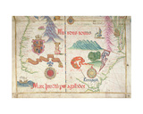 South America (South), Detail from World Atlas, 1565 Giclee Print by Diego Homem