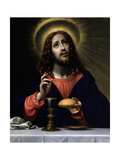 Christ Blessing the Sacraments Giclee Print by Carlo Dolci