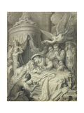The Death of Leonardo in 1519 Giclee Print by Richard Cosway