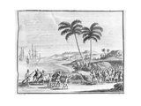 A Dutch Landing Party Being Ambushed in the East Indies, from 'Oud En Nieuw Oost-Indien 1724-26'… Giclee Print by Matthys Balen