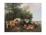 Siesta at Haymaking Time, 1868 Giclee Print by Gustave Courbet