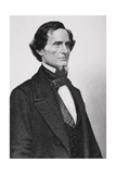 Portrait of Jefferson Davis (1808-1889) (Detail) Giclee Print by Mathew Brady