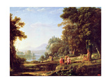 Landscape with Apollo and Marsyas, 1639-40 Giclee Print by Claude Lorrain