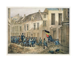 The Rue De Louvain, Brussels, 23rd September 1830, Engraved by A.M. Jobard (Fl.1820-30) Giclee Print by Jean-Louis Van Hemelryck