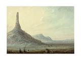 Chimney Rock, 1837 Giclée-Druck von Alfred Jacob Miller