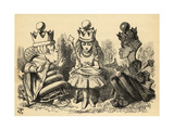 Manners and Lessons, Illustration from 'Through the Looking Glass' by Lewis Carroll (1832-98)… Giclee Print by John Tenniel