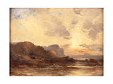The Berwickshire Coast Giclee Print by John Milne Donald