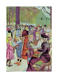 Stamps Market in Paris, 1897 Giclee Print by Louis Malteste