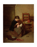 The Little Dressmaker, 1858 Giclee Print by Pierre Edouard Frere