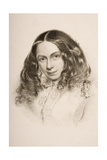 Elizabeth Barret Browning (1806-61) in March 1859, Engraved by G.Cook Giclee Print by Field Talfourd