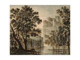 Castle in a Classical Landscape Giclee Print by Robert Adam