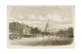 The Capitol Building, Washington Dc, C.1880 Giclee Print by Reverend Samuel Manning