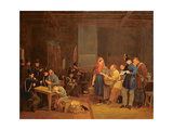 Guardroom of the Urban Guard of Brussels, 1830 Giclee Print by Constantinus Fidelio Coene