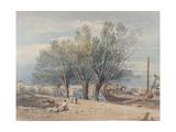 Vauxhall Bridge Giclée-Druck von John Varley