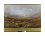 Snowstorm over Snowdon, 1879 Giclee Print by James Jackson Curnock